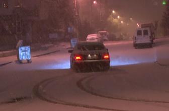 Kar üzerinde drift çılgınlığı saniye saniye kaydedildi
