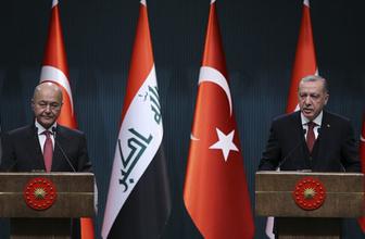 Cumhurbaşkanı Erdoğan ve Irak Cumhurbaşkanı'ndan 'ortak çalışma' sözü