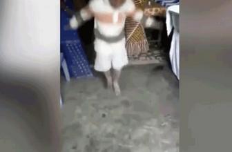 Kamera önünde yaptığı dansın sonu kötü bitti