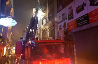 Fatih'te döküm imalathanesinde yangın