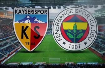 Fenerbahçe Kayseri deplasmanında: İlk 11'ler belli oldu!