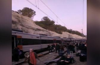 Barselona'da tren kazası: 1 ölü, 92 yaralı