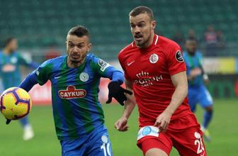 Çaykur Rizespor evinde Antalyaspor'la yenişmedi