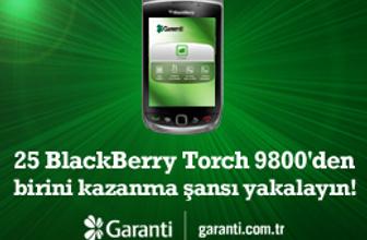 Garanti e-Trader'dan 25 BlackBerry Torch