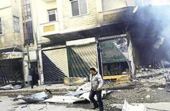 Suriye'de sokaklar harabeye döndü