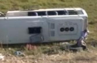 Yolcu otobüsü şarampole yuvarlandı!