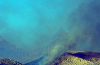 Cudi Dağı'ndan dumanlar yükseliyor