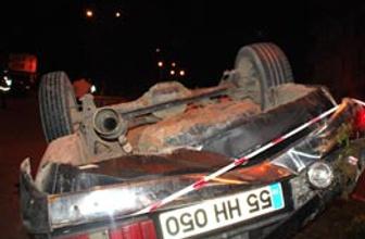 Ehliyetsiz sürücü ölümden döndü