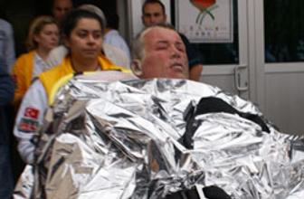 Başbakanlık önünde kendini yaktı