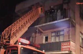 5 kişilik aile balkondan böyle kurtarıldı
