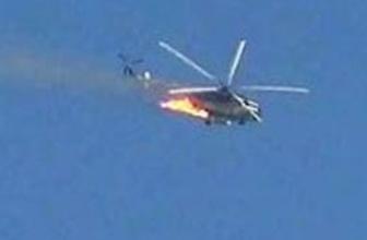 Suriye sınırında helikopter düştü!