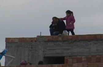 İntihar eyleminde küçük kız titreyince