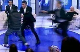 Canlı yayında şarkıcıya şok saldırı