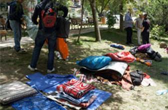 Kuğulu Park'ta çadır gerilim