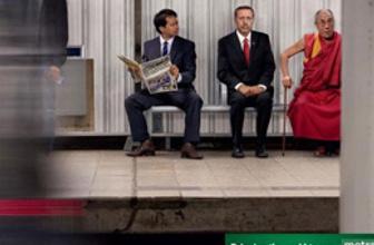Başbakan Erdoğan reklam afişlerinde