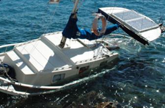 Bodrum'da tur teknesi battı