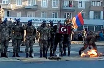 Ermenistan'dan Türk bayrağına hakaret