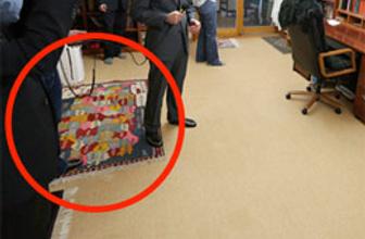 Gülen'in evindeki şaşırtan halı