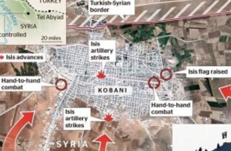 Çok çarpıcı Kobani ve Suriye haritası
