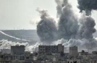 Kobani yeni yıla hava saldırıları ve çatışmalarla girdi