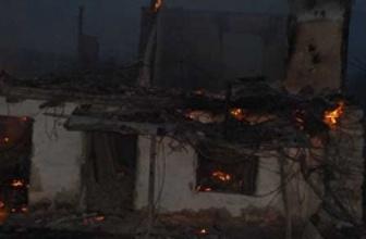 Çocuk öldürüldü evi ateşe verdiler!