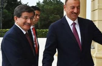 Başbakan Davutoğlu Aliyev ile görüştü