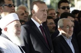 Cumhurbaşkanı Erdoğan cenazede