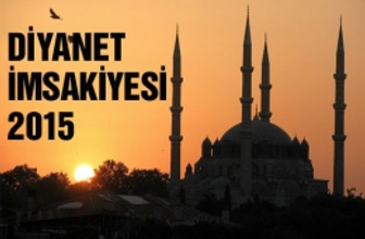 Sivas iftar vakti İmsakiye 2015 sahur saati