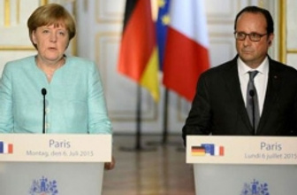 Merkel ve Hollande'dan Yunanistan mesajı!