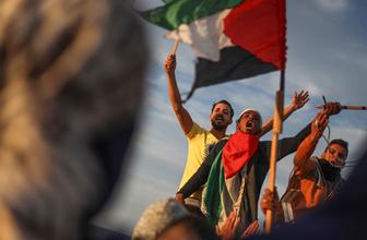 Gazze'de İsrail ablukası protestosu