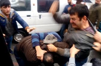 Mersin'de sürücüler birbirine girdi ortalık savaş alanına döndü!