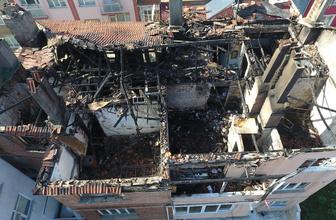 Sinop'ta korkutan yangın! İki ev kullanılamaz halde