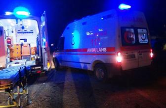 Osmaniye'de MHP'nin seçim aracı devrildi