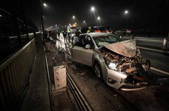 Haliç Köprüsü'nde zincirleme trafik kazası: 4 yaralı