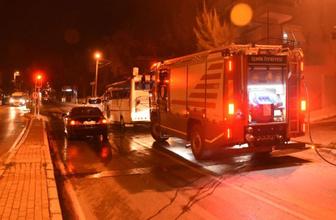 İzmir'de korkunç olay! Seyir halindeki araç bir anda küle döndü
