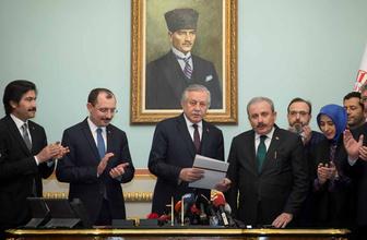 Mustafa Şentop Meclis Başkanlığı için adaylık başvurusunu yaptı