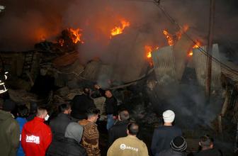 Bayburt'ta  Göldere köyünde yangın