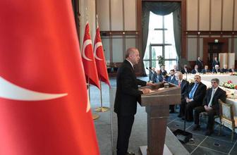 Cumhurbaşkanı Erdoğan kanaat önderleriyle görüştü: Biz tökezlersek bayram ederler
