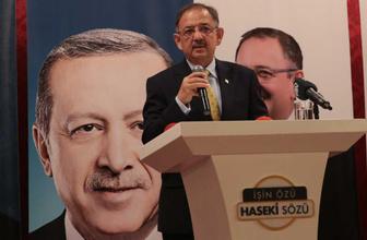 Mehmet Özhaseki: Bizim dışımızda proje açıklayan yok