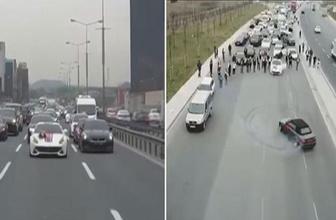 İstanbul'da lüks araçlı, drone'lu maganda konvoyu!