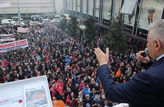 Binali Yıldırım, Güngören'de vatandaşlara hitap etti