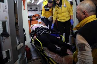 Kendisini döven erkek arkadaşından kaçıp akaryakıt istasyonuna sığındı
