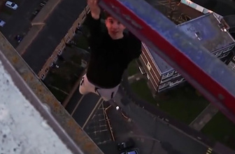 91 metre yükseklikte ölüme böyle meydan okudu!