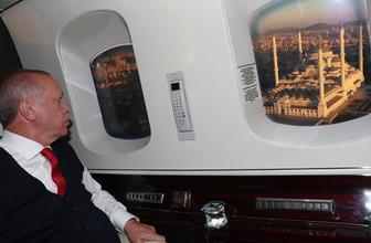 Cumhurbaşkanı Erdoğan Çamlıca Camisini havadan inceledi