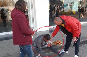 Taksim'de dilenciliğe level atlatan kurnazlık!