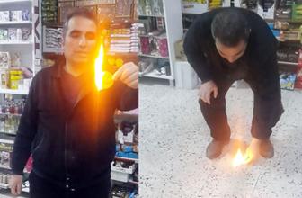 """Bakkal eline aldığı cipsi """"Vallahi istemeyerek satıyorum"""" diyerek ateşe verdi"""