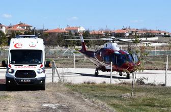Konya'da otomobilden düşen çocuğun bacağı koptu