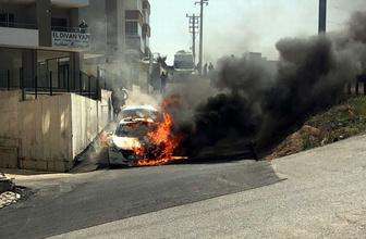 Bursa'da seyir halindeki araç alev topuna döndü!