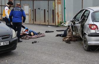 Kocaeli'de korkunç kaza! Yayayı aracın altına aldı sonra bariyerlere girdi