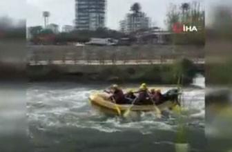 Raftingcilerin korku dolu anları saniye saniye kaydedildi